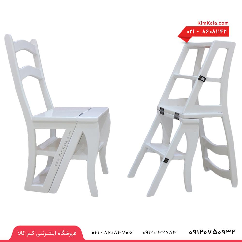 صندلی چند کاره تاشو با امکان تبدیل به نردبان