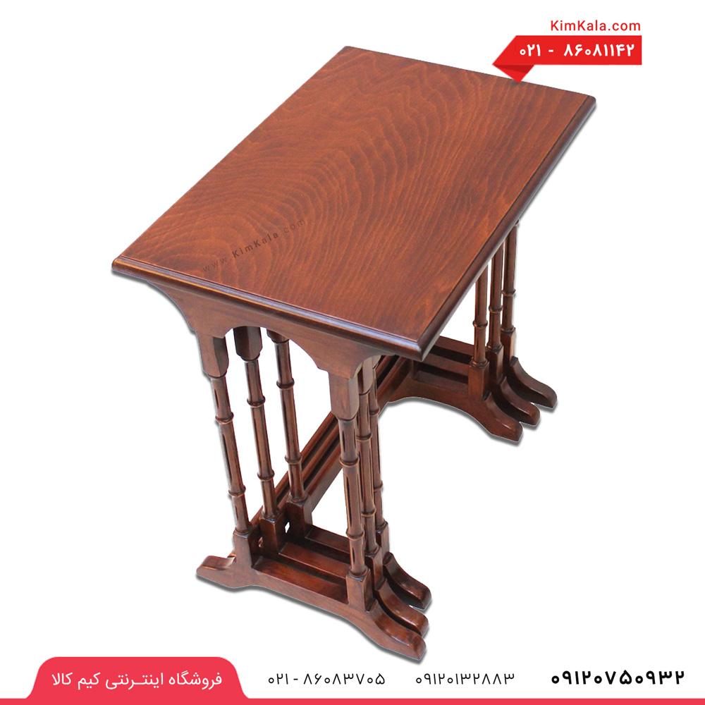 میز عسلی چوبی 3 تیکه